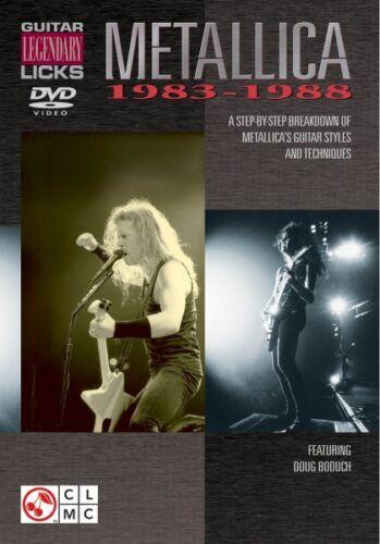 Metallica Guitar Legendary Licks 1983-1988 A Breakdown of Metallica/'s  002500479