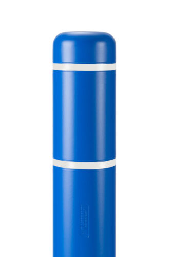 """7/"""" x 52/"""" BollardGard Bollard Cover Blue with White Reflective Tapes"""