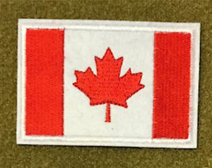 "-Iron On Embroidered Patch Flag of Canada CANADA FLAG-CANADIAN 4 1//2/"" x 2 1//2/"""