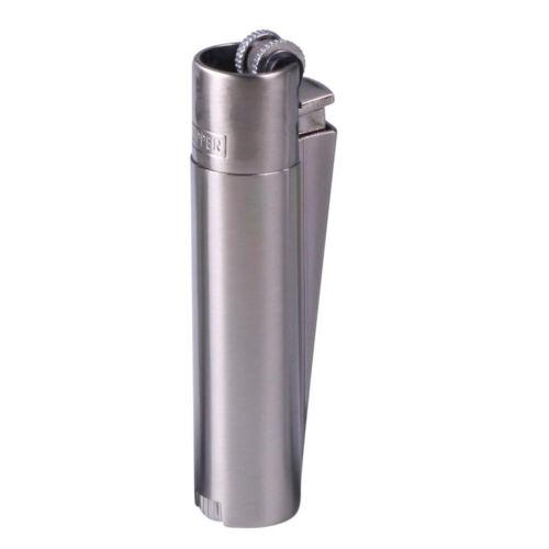 Peppiges silbernes Clipper Gasfeuerzeug metall mit Gravur Passt in Schachtel