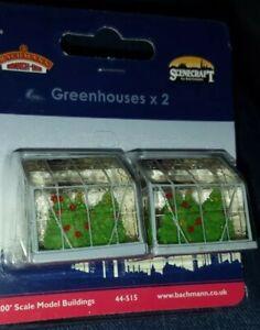 OO Gauge Bachmann 44-515 Greenhouse x2  scenery for model railway layout