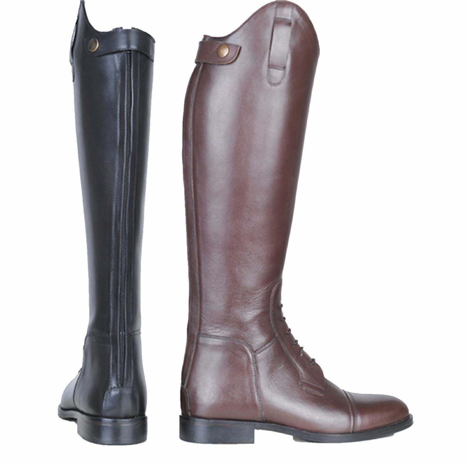 HKM Equestrian Adults Spain Soft Leather Slim Standard Long Horse Riding Boots