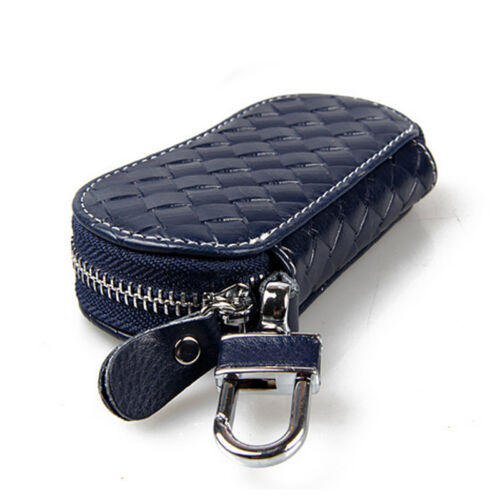 New #L Leather Auto Car Key Bag Pouch Remote Keychain Key Case Holder Multicolor