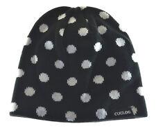 Cuglog Thor Polka Dot Knit Beanie Hat Black White