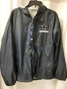 competitive price 4c8c8 a48bc Details about Dallas Cowboys Authentic Men's Padded Rain Coat Jacket  Windbreaker Large L NWT