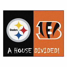 FANMATS 17113 NFL House Divided Steelers//Eagles House Divided Mat