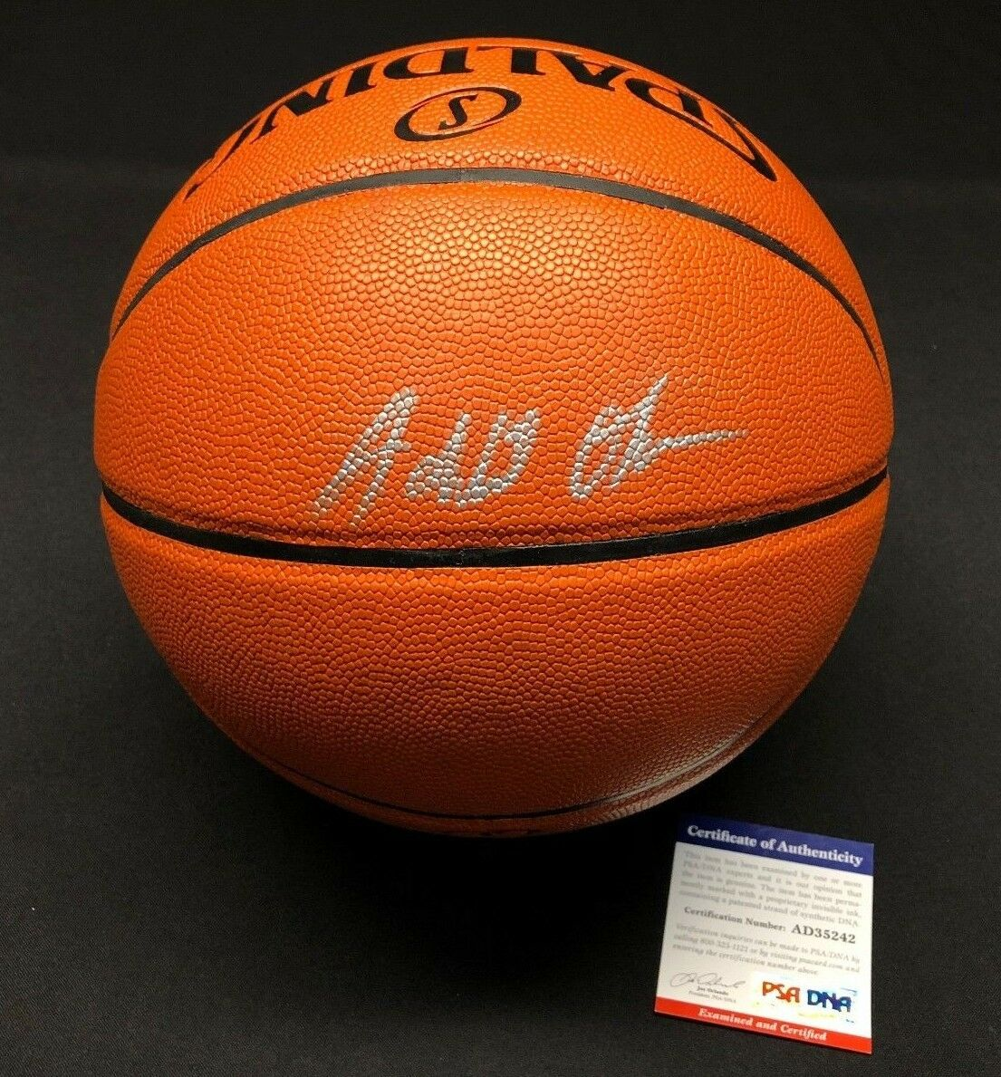 Jahlil Okafor Signed Spalding Game Ball Series Basketball *Nets PSA AD35242