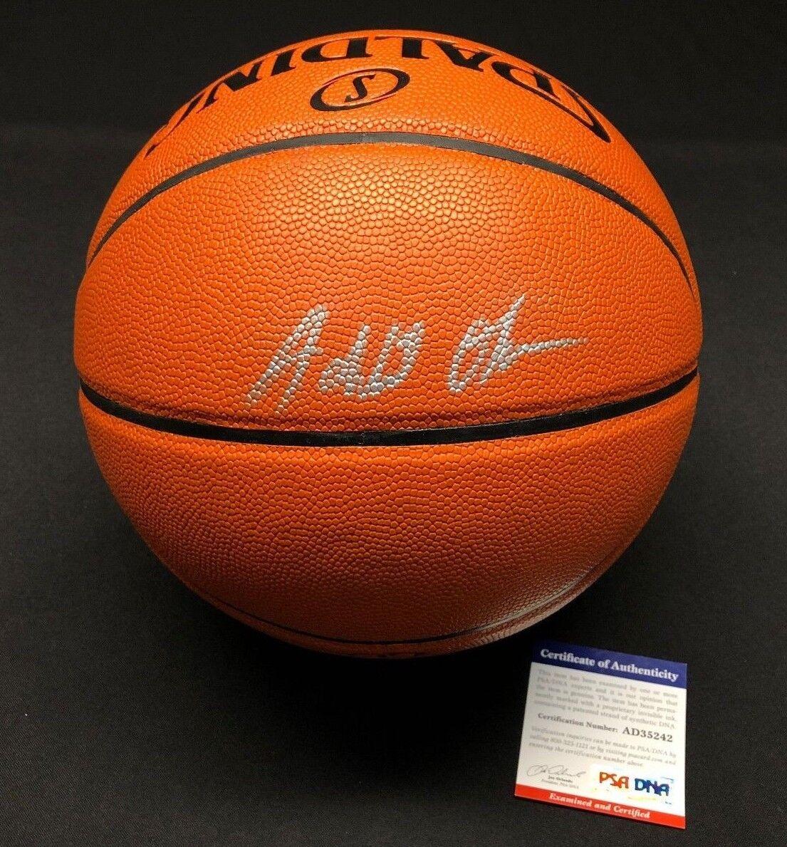 Jahlil Okafor Signed Spalding Game Ball Series Basketball *Nets PSA AD35242