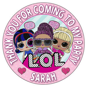 Personalised-LOL-Surprise-Stickers-Birthday-Party-Thank-You-Sweet-Cone-Bag-Seals