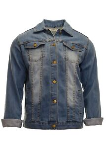 Men-039-s-Classic-Denim-Jacket-Mid-Blue