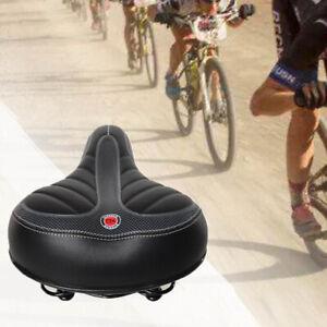 Comfort Extra Wide Big Bum Bike Bicycle Gel Soft Pad Saddle Seat Sporty