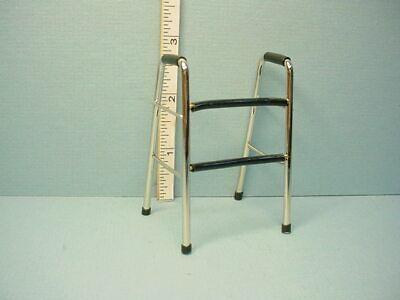 """DOLLHOUSE 2/"""" x 1 3//4/"""" x 2 3//4/"""" 1:12 Scale Miniature Metal Walker w//Black Grips"""