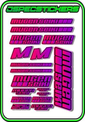 MUGEN SEIKI RC STICKER SHEET 1//8 BUGGY 1//10 CAR MTX6R MBX7R MRX6 GT ECO PIN//PURP