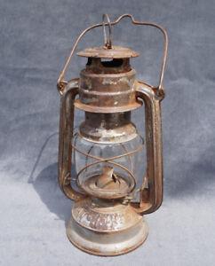 Antique German Bat 158 Kerosene Lamp Petrol Lantern Light
