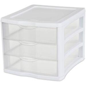 Sterilite-ClearView-3-Storage-Drawer-Organizer