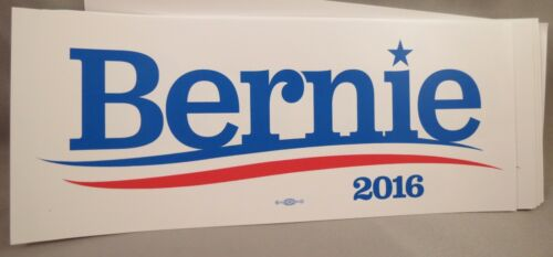 WHOLESALE LOT OF 20 BERNIE SANDERS FOR PRESIDENT 2016 BUMPER STICKERS DECAL