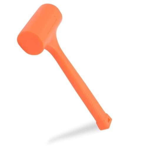 Neiko 4 LB Dead Blow HammerNone Spark Shock Absorbing Action Neon Orange