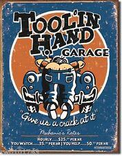 Tool in Hand Garage FUNNY TIN SIGN mechanic bar auto repair shop wall decor 1319
