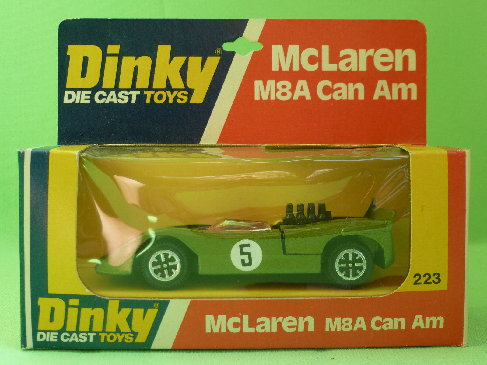 DINKY TOYS 223 MC LAREN M8A CAN AM  SELTEN RARE   IN MINT CONDITION