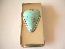 NATIVE AMERICAN NAVAJO TURQUOISE MONEY CLIP