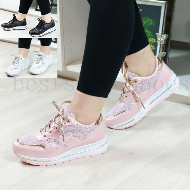 LADIES WOMENS FLAT RUNNING SPORT FITNESS GYM LACE UP BALI  SHOES TRAINERS SZ 3-8