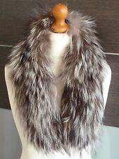 Vintage Real Silver Fox Stole Scarf Shawl Wrap Collar