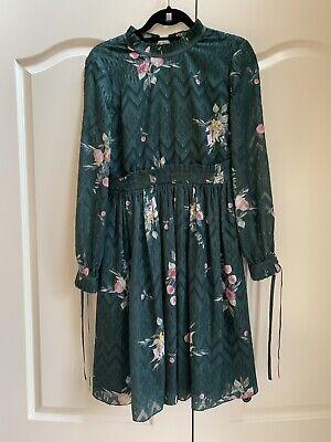 NWT $335 TED BAKER Womens Tapestry Floral Full Skirt