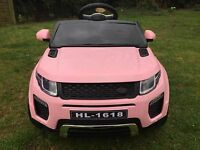 Kids Range Rover Evoque Style 12v Battery Ride On Car Electric Jeep - Pink