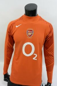 new style 99eb4 d6a2b Details about GUNNERS SHIRT HIGHBURY 2005-06 NIKE Arsenal FC Goalkeeper GK  Long Sleeve SIZE S