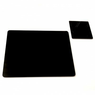 Black Acrylic Round Shaped Placemats Coasters Several Optionen
