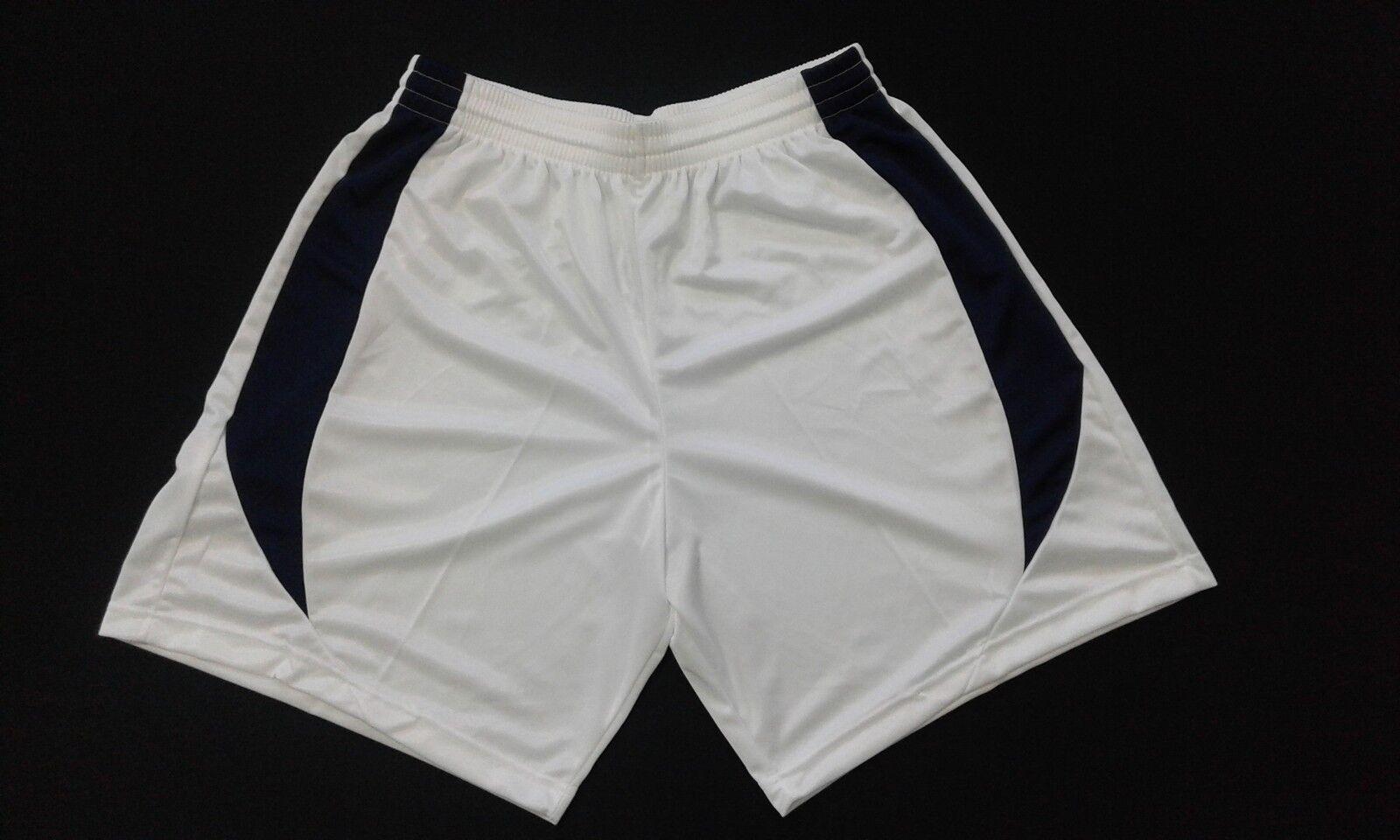 Stock 10 Bianco/Blue Pantaloncino Calcio Misura L Colore Bianco/Blue 10 Poliestere FOOTEX e164ed