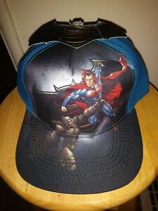 Batman vs Superman Cap Adult Adjustable Snapback DC Comics Baseball ... c6cdd23dd56
