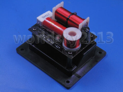 2pcs 2 Way 2 Unit Speaker Frequency Divider Crossover Filters with Junction Box