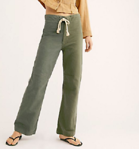 Free People RILEY Green Mission Trouser Pants Size Small         aa1