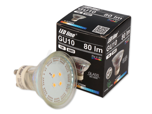 10x-5x-3x-LED-GU10-Leuchtmittel-Birne-Lampe-Leuchte-Kerze-1W-80lm-Warmweiss