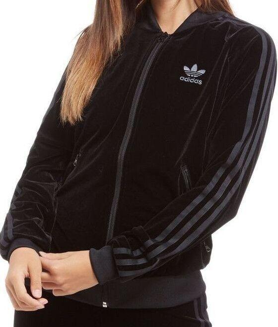 adidas Velvet Vibes Superstar Track Jacket Black | Footshop