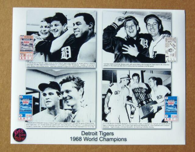 Detroit Tigers  1968 World Series 11 x 14 Photo Collage # 2 !
