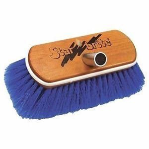 "Star Brite Premium 8"" Deluxe Wooden Block Brush w/ Bumper Blue 040171 MD"