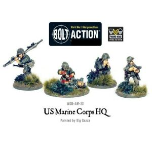 Bolt-Action-Usmc-Hq-amp-Squad-Warlord-Games-World-War-2-Us-Marine-Corps