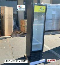 New Glass Door Refrigerator Cooler Beverage Merchandiser Nsf 15 X 19 X 62