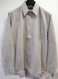 superbe-chemise-Thierry-MUGLER-homme-Taille-41-coton-grise-angel-amen-alien