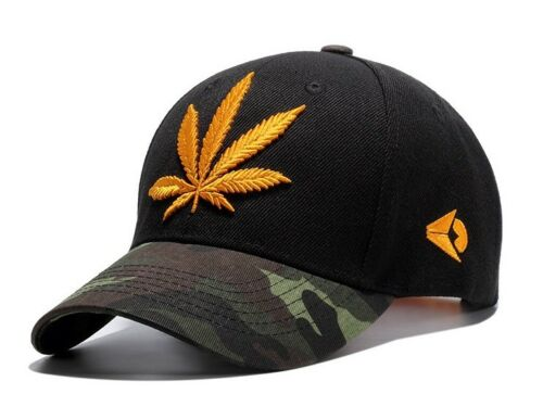 Embroidered POT//WEED Leaf Snapback Hats-Men,Women Hip Hop Fitted Baseball Caps