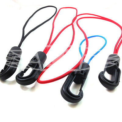 Red Blue Black & Blue Sailing Aspiring 4mm Bungee Rope Elastic Shock Cord Hooks & Loops Outdoor Sports