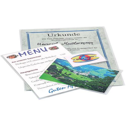 Kalt-Laminierfolien für 48 Visitenkarten oder Clubausweise Sparpack