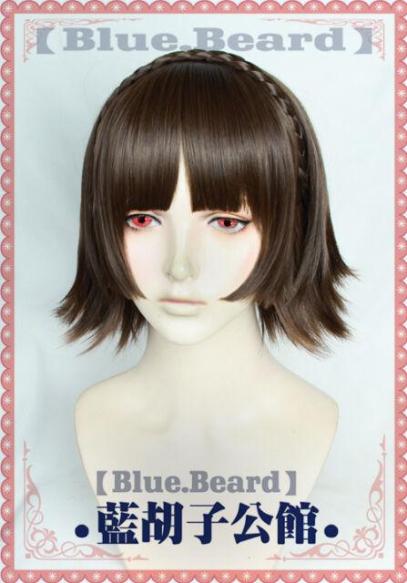 P5 Persona 5 QUEEN Niijima Makoto Game Costume Cosplay Wig +Cap +Track Number