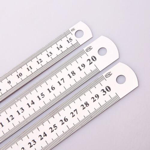 10//20//30cm Stahllineal Stahlmaßstab Metalllineal Lineal Werkstattlineal