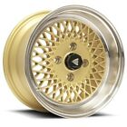 "Genuine Enkei 92 15x8"" Classic Wheel GOLD Mesh 4x100 25 Offset"