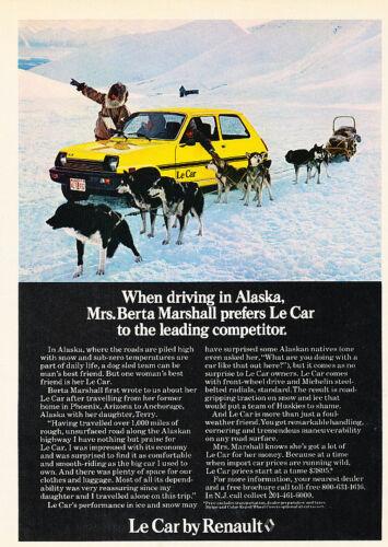 Classic Vintage Advertisement Ad D43 Alaska 1979 Renault Le Car