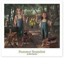 Bob Byerley Childs Fishing print SUMMER SNAPSHOT