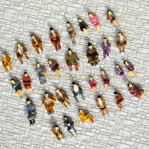60-pcs-HO-scale-ALL-Seated-People-sitting-figures-Passengers-30-difr-poses-B30P